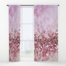 Pink Sparkle Curtains Girly And Luxury Window Curtains Society6