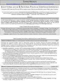 Political Science Resume Sample by Political Campaign Assistant Resume Example Download Sample Resume