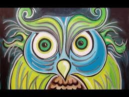 funky owl painting speed art by raeart youtube
