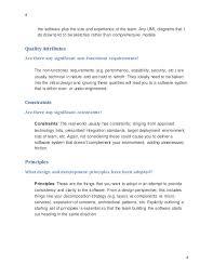 software architect design documentation template