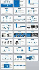 27 red business report professional powerpoint template