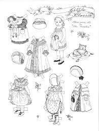 paper dolls in black u0026 white to color u0026 cut marges8 u0027s blog page 2