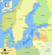 a map of europe with countries baltic region