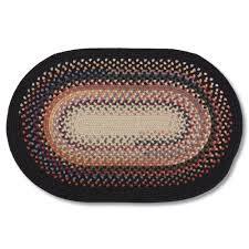Black Circle Rug Yankee Wool Blend Braided Rug Sturbridge Yankee Workshop