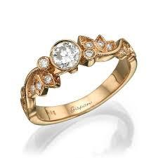 leaf engagement ring diamond ring wedding ring art deco ring