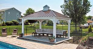 outdoor living pavilion traditional metal roof 12x16 all decked out