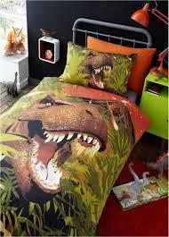Dinosaur Double Duvet Bed U0026 Bath Dinosaur T Rex Duvet Cover Set Single U0026 Double