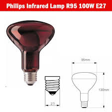 Philips Light Therapy Philips Infrared Light Therapy Lamp 100 Watts E27r95 11street