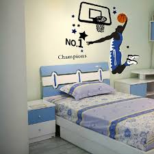 chambre basketball stickers deco chambre enfant chions basketball wall sticker home