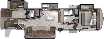Front Living Room 5th Wheel Floor Plans 2017 Mesa Ridge Fifth Wheels By Highland Ridge Rv
