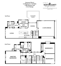 townhouse floor plan shea homes floor plans voscana new homes in carlsbad ca by shea