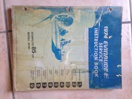 1974 evinrude johnson starflite 85 hp service instruction book