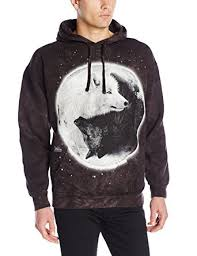 the mountain yin yang wolves hoodie at amazon men u0027s clothing store