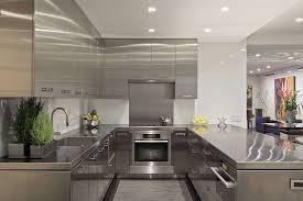 luxury modern kitchen kitchen luxury interior silver stainless steel u shape modern