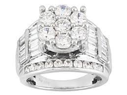 rings zirconia images Cubic zirconia silver ring 7 14ctw bjk750 jpg