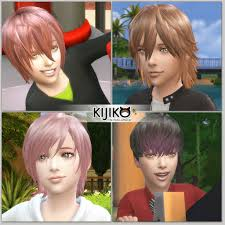 my sims 4 blog kijiko hair for kids and bunny sweater for boys