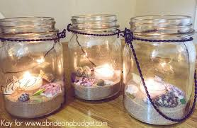 Mason Jar Arrangements Beach Wedding Mason Jar Centerpieces A Bride On A Budget