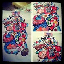 girly tattoo flash a3 prints available tattoos for glo