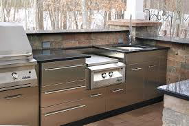 Cabinets For Outdoor Kitchen Outdoor Stainless Kitchen In Winter In Ct Danver Stainless Steel