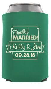 wedding koozie quotes custom wedding can coolers totallyweddingkoozies