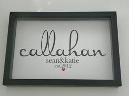 gift registry for housewarming personalized family name framed print sign wedding engagement