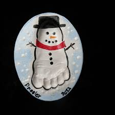 image result for handprint santa foot ornaments