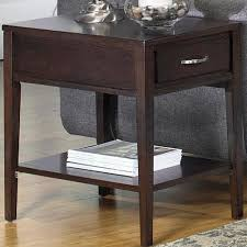null furniture chairside table null furniture 3012 3012 05 rectangular end table with drawer and