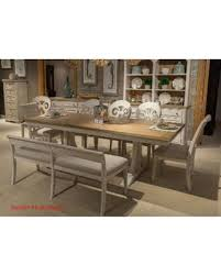 trestle dining table set deal alert havenside home morattico antique white brown 6 piece