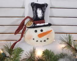 primitive snowman etsy