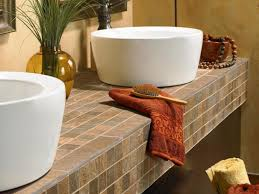 bathroom sink brilliant vanity in white color with black