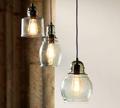 Pottery Barn Lighting Pendant Catchy Three Light Pendant Paxton Glass 3 Light Pendant Pottery
