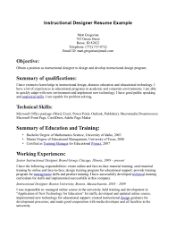 Program Specialist Resume Instructional Technology Specialist Resume Free Resume Example