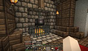 fireplace with cooking pot minecraft stuff minecraft ideas and