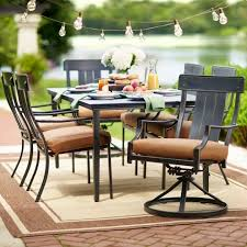 amazing hampton bay oak heights 7 piece patio dining set with 7