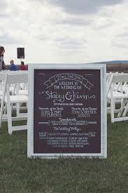 Chalkboard Wedding Program Can U0027t Do Classy Wedding Ideas