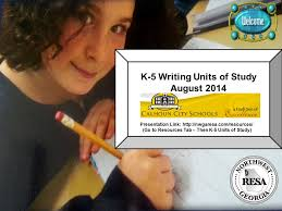 k 5 writing units of study ppt video online download