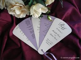wedding program on a fan cherish paperie wedding programs envelopments wedding