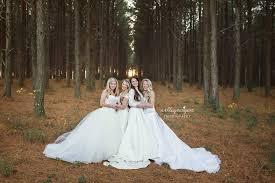 wedding dress photography wear their wedding dresses for photo popsugar