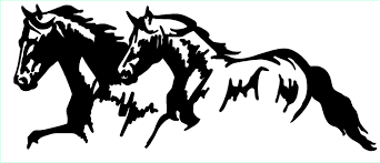 mustang horse drawing two running horses drawings images pictures becuo clip art library