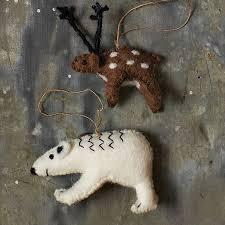 felt animal ornaments west elm
