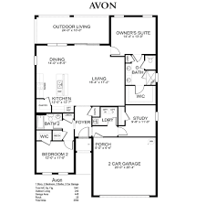 Floor Plans Of Homes Avon Cascades At River Hall Alva Florida D R Horton