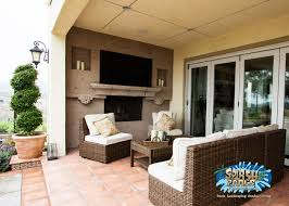 Cantera Stone Fireplaces by Brea Front And Backyard Design Splash Pools And Construction