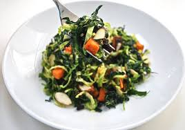 kale brussels sprouts sweet potato salad is but a dish