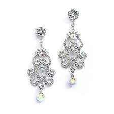 earrings for prom iridescent ab vintage chandelier earrings for prom