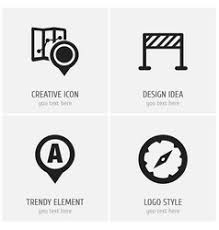 of map symbol on map icon royalty free vector image