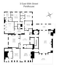 Real Estate Floor Plan Corcoran 3 East 95th Street Apt Penthouse Carnegie Hill Real