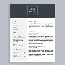 Modern Resume Template Free Word Professional Cv Template And Cover Letter From Polishedresumedesi