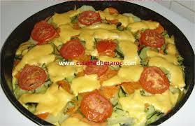 cuisine marocaine facile et rapide gratin de légumes au fromage