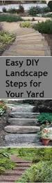 diy steps for your yard landscape steps backyard and landscaping