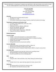 Sample Student Resume For College Application by Example Resume For High Students For College Applications